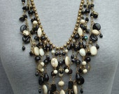 50%OFF WITH COUPON. Glass and gold layered necklace
