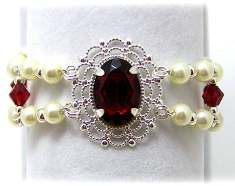 Medieval Bracelet - Renaissance Bracelet - Medieval Jewelry - Renaissance Jewelry, Tudor Jewelry, Tudor Bracelet, Anne Boleyn, The Tudors