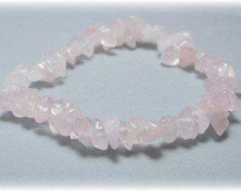 Stretch Bracelet - Gemstone Bracelet - Rose Quartz Bracelet, Bead Bracelet, Gemstone Jewelry