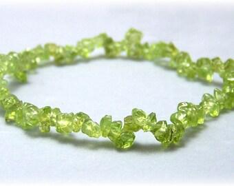 Stretch Bracelet - Gemstone Bracelet - Peridot Bracelet, Bead Bracelet, Gemstone Jewelry