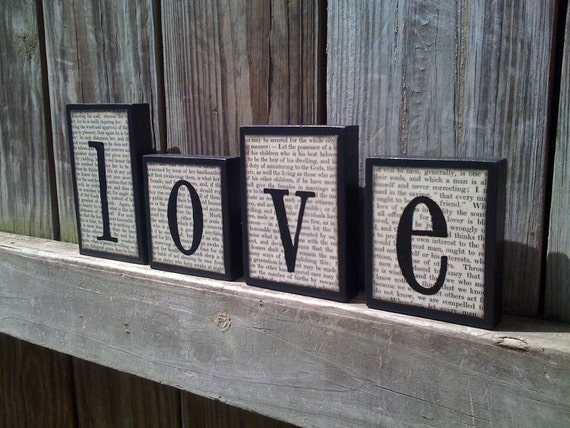 Love Wooden Block Set