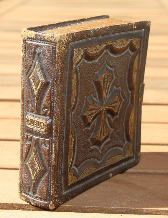 RESERVED // Miniature Victorian Era / 150 Year Old Fairy Photo Album PLUS 91 Gem Tintypes