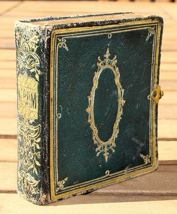 Miniature Antique Victorian Photo Album PLUS 60 Gem Tintypes Including Two Unusual
