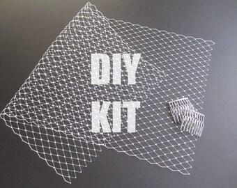 Wedding Veil Kit, Tutorial, How to Make a Bridal Veil, Bandeau Veil