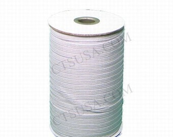 One Eighth Inch White Braided Elastic 288 yds Roll
