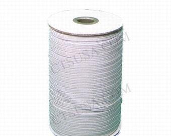 1/4 Inch White SOFT Braided Elastic 144 yds Roll