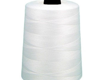 10 Spools of White Sewing Thread T-27 40/2 10000y