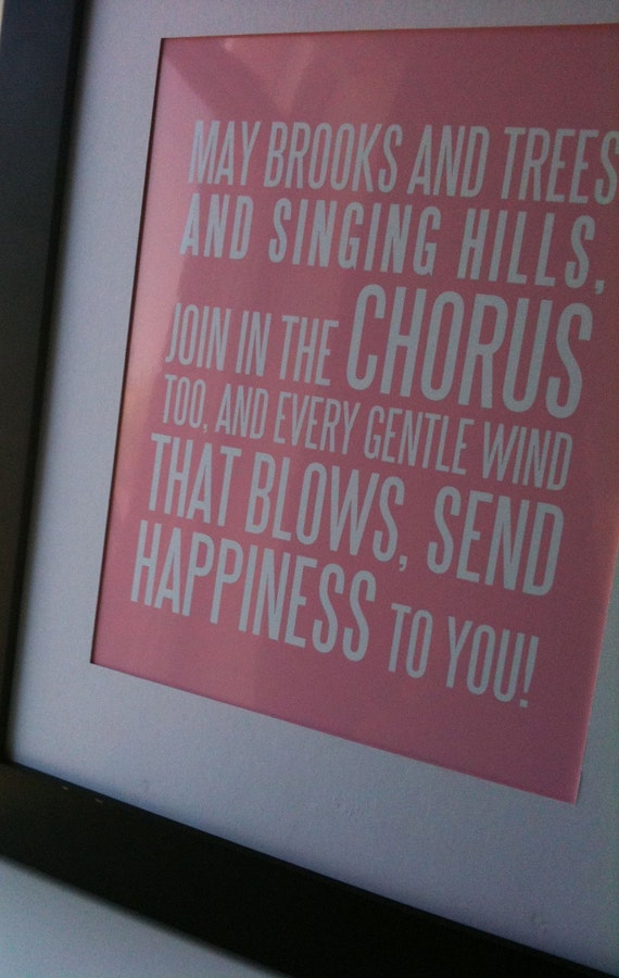 IRISH BLESSING - May Brooks and Trees and Singing Hills...