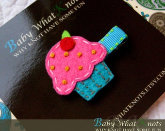 Baby Hair Clip, Cupcake Hair Clip, Baby Hair Clippies, Girl Barrette