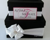 wedding card box money holder gift card box bridal shower card box, Custom Made to Order