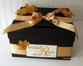 Wedding Gift Card Money Box Fall Autumn Wedding- You customize colors and accessories