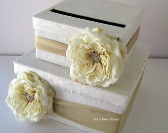 Card Box Wedding Bridal Shower Card Box Wedding Gift Card Holder Wedding Money Card Box - Custom Made