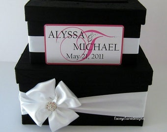 wedding card box money holder gift card box bridal shower card box, Custom Made to Order