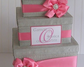 Wedding Card Box Gift Card Box Card Gift Box Custom Card Box- You customize colors and accessories