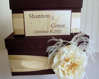 Money Card Box Wedding Card Box Custom Made Money Card Holder, Gift Card Box, Unique Card Box