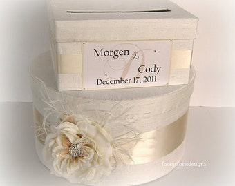 Wedding Card Money Gift Box - You customize colors and accessories