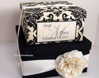 Custom Wedding Card Box Damask Card Box