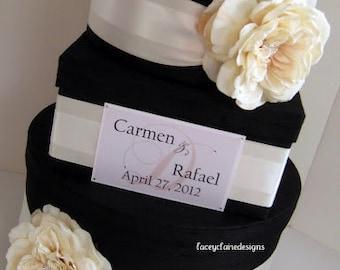 Gorgeous Wedding Card Box made with Dupioni Silk Custom Made