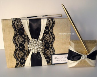 Dupioni Silk Guest Book Wedding Keepsake Book Custom Made