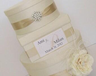 Couture Wedding Card Box Dupioni Silk Card Holder Custom Made