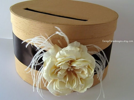 Wedding Card Box Money Holder Gift Card Box Custom Made in your colors