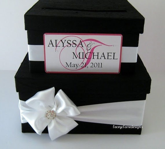 Wedding Shower Gift Card Holders : wedding card box money holder gift card box bridal shower card box ...