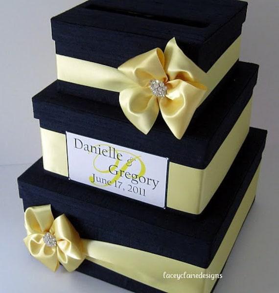 Wedding Gift Card Box How To Make : Wedding Card Money Box Gift Card HolderCustom Made