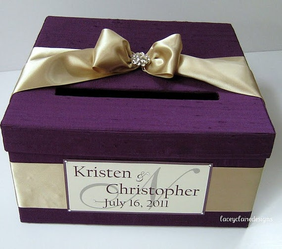 Wedding Gift Box Etsy : Items similar to Wedding Gift Card Box - Custom Made on Etsy