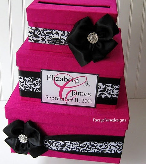 Wedding Card Box Wedding Card Gift Card Holder - Custom Made to your ...
