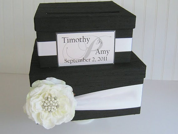 Wedding Mailbox Gift Holder : Wedding Gift Card Money Box Holder Custom by LaceyClaireDesigns