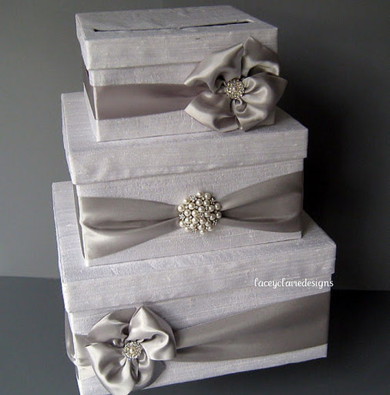 Unique Wedding Card Holder Ideas: Wedding Card Box Money Box Gift Card Box Holder Custom Made To