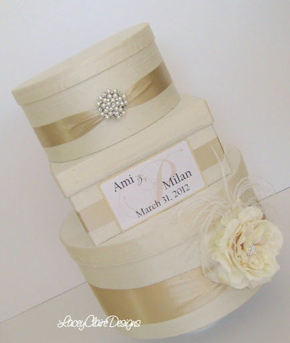 Couture Wedding Card Box Dupioni Silk Card Holder Custom Made