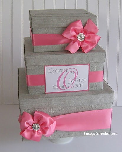 Wedding Planner Gift Box : Wedding Card Box Gift Card Box Card Gift Box by LaceyClaireDesigns