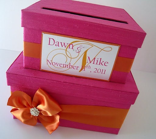 Gift Card For Wedding: Wedding Gift Card Money Box Holder Custom Made