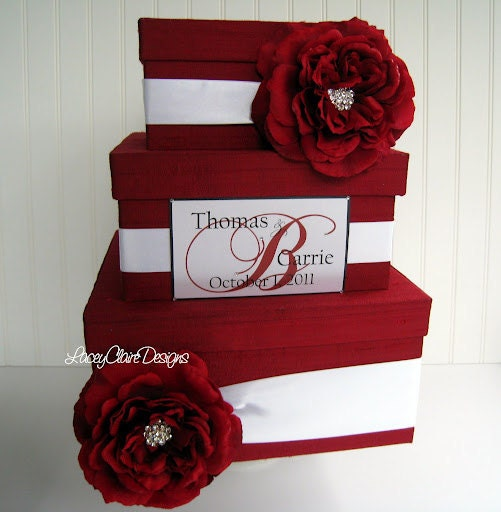 Wedding Gift Envelope Box Suggestions : Wedding Card Box Envelope Gift Box Custom Made