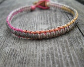 Tan and Sherbert bracelet