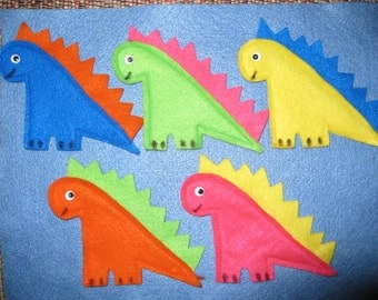 Set of 5 Dinosaurs Finger Puppets