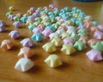 100 Pastel Multi-Colored Origami Lucky Stars