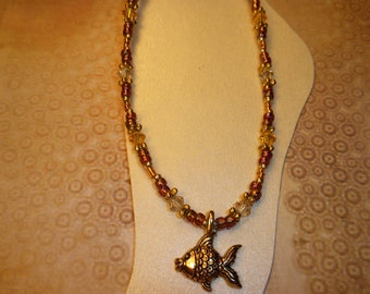 Pretty Golden Fish Ankle Bracelet