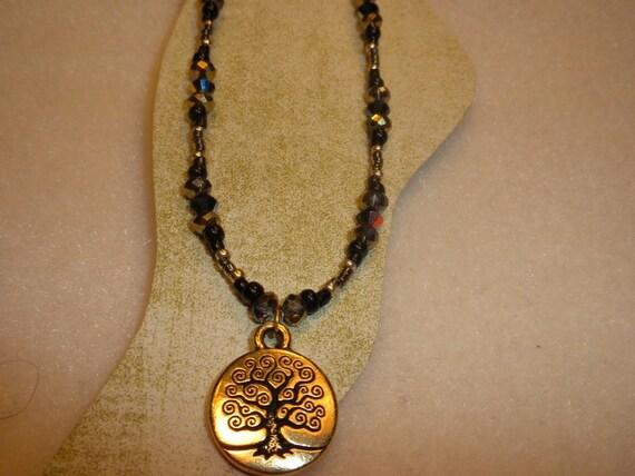 Gold Tree Of Life Ankle Bracelet