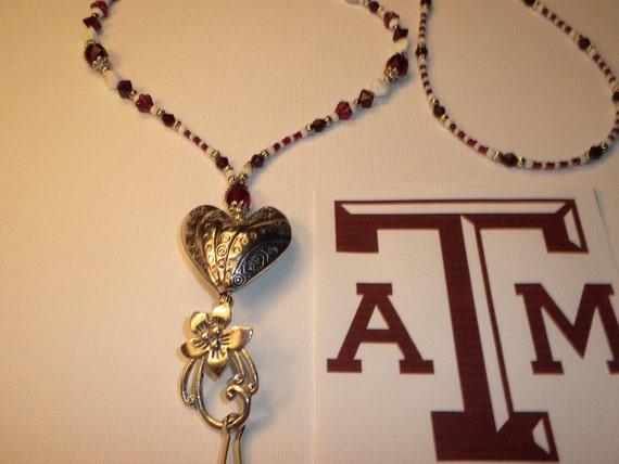 RESERVED For BEKKI  Texas A&M Aggies Lanyard/Badge Holder