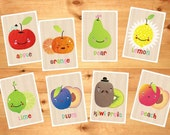 Funny Fruits Cards in English - 4x6