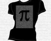 Pi to the first 2591 places t-shirt - Black - Unisex/Women/Kids sizes