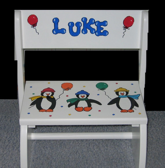 Childrens Step Stool Personalized