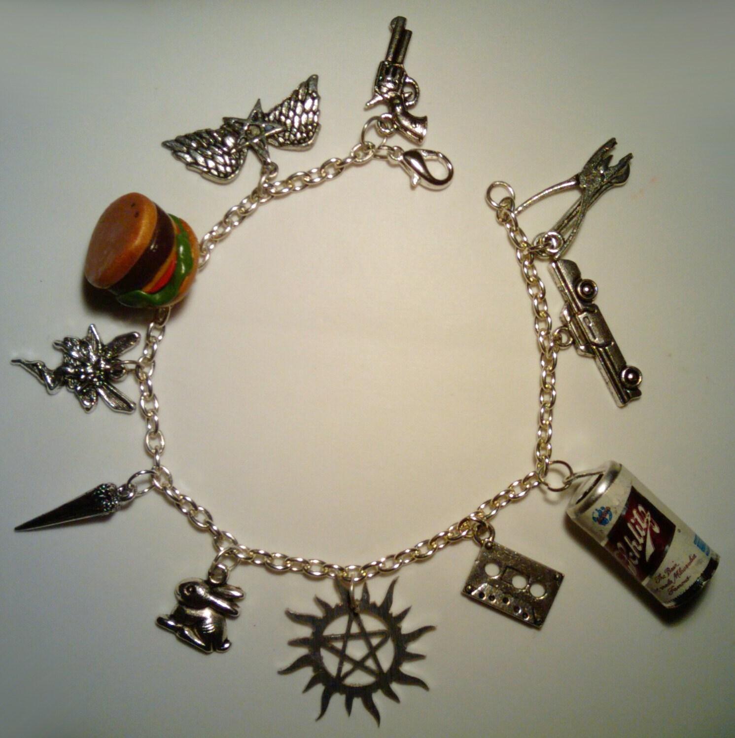 supernatural dean winchester theme charm bracelet