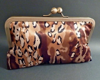 Zebra Animal Clutch Gold READY TO SHIP Holiday Christmas New Years Eve Fall Clutch