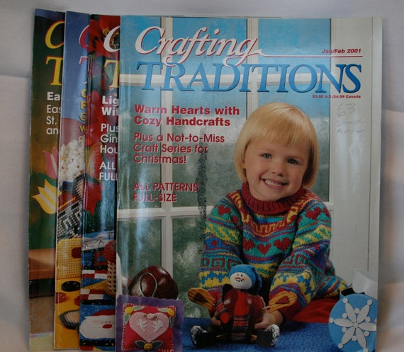 4 Back Issues Crafting Traditions Magazine