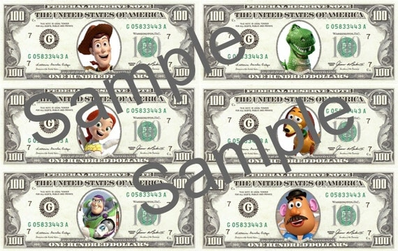 Toy Story Money Money Money : Toy story play money digital file print your own