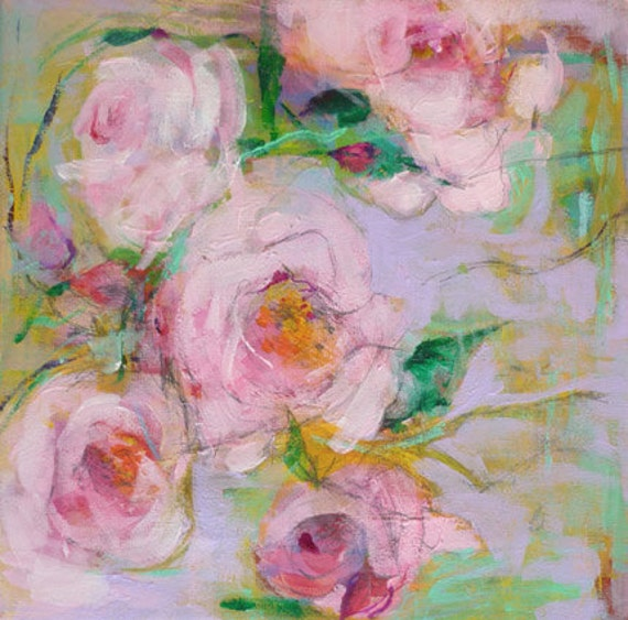 Reserved for Jayn Roses6 Original Abstract Painting on canvas