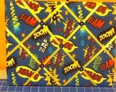 Allover Superhero Fabric Photo Memory Board